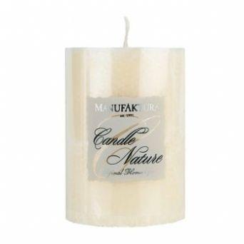 Свеча из пальмового воска - белая 5,8 см. (Чехия)